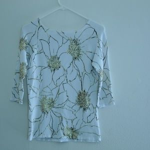 Cache M Sweater is gently used in excellent shape.